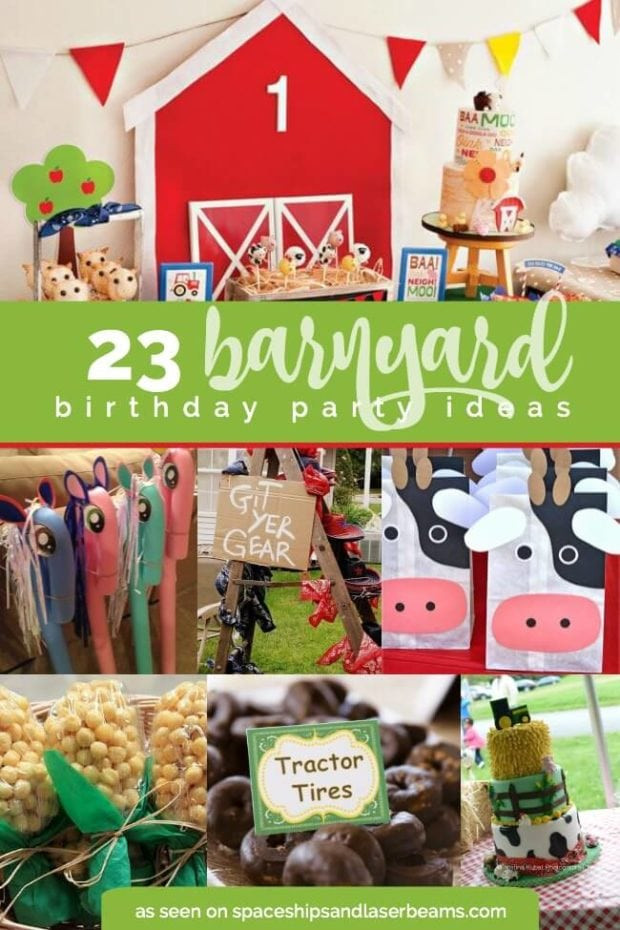 Best ideas about Barn Birthday Party . Save or Pin A Boy's Barnyard Bash Spaceships and Laser Beams Now.