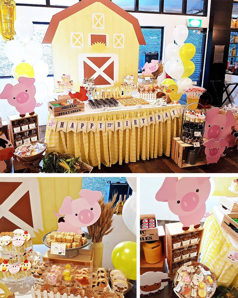Best ideas about Barn Birthday Party . Save or Pin Farm Party Decorations Barn Animals Birthday Party Decor Now.