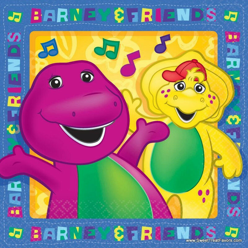 Best ideas about Barney Birthday Party Supplies . Save or Pin BARNEY Dinosaur Party Supplies NAPKINS CAKE x16 Birthday Now.