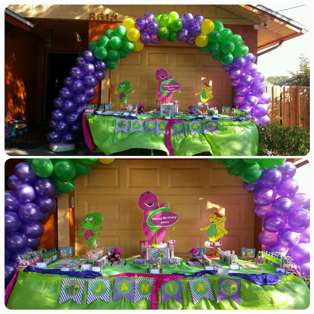 Best ideas about Barney Birthday Party Supplies . Save or Pin barney Birthday Party Ideas 1 of 8 Now.