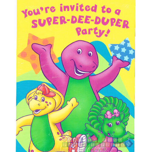 Best ideas about Barney Birthday Party Supplies . Save or Pin BARNEY Super Dee Duper INVITATIONS 8 Birthday Party Now.