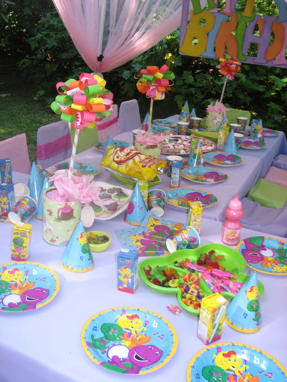 Best ideas about Barney Birthday Party Supplies . Save or Pin GLITTERING GATHERINGS BARNEY PARTY Now.
