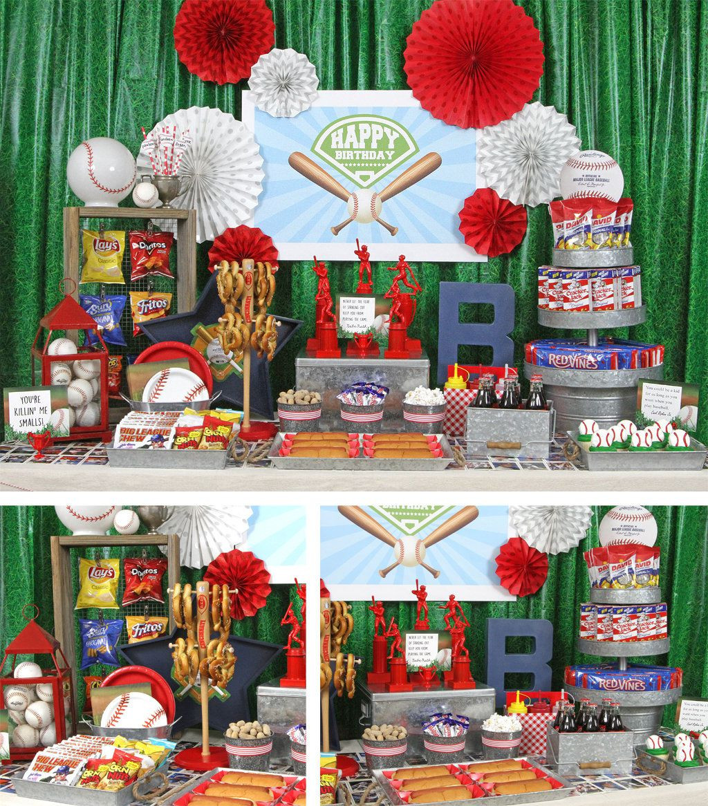 Best ideas about Baseball Themed Birthday Party . Save or Pin Baseball Party Ideas Now.