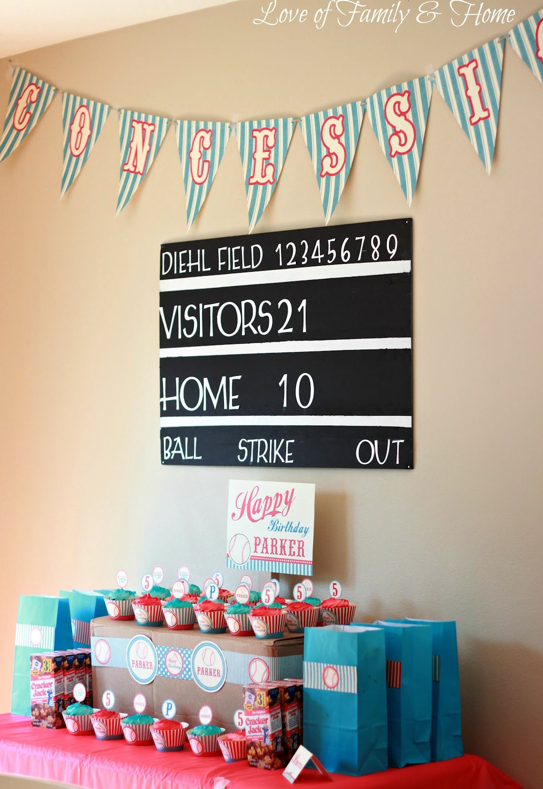 Best ideas about Baseball Themed Birthday Party . Save or Pin DIY Baseball Themed Birthday Party Love of Family & Home Now.