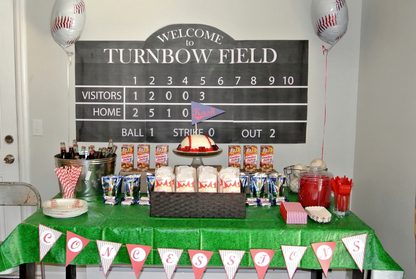 Best ideas about Baseball Themed Birthday Party . Save or Pin Team Turnbow baseball themed party Now.