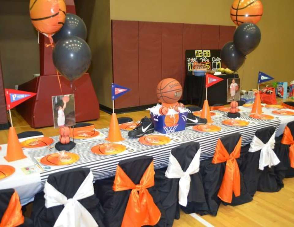 """Best ideas about Basketball Birthday Party . Save or Pin Basketball Birthday """"Basketball Party"""" Now."""