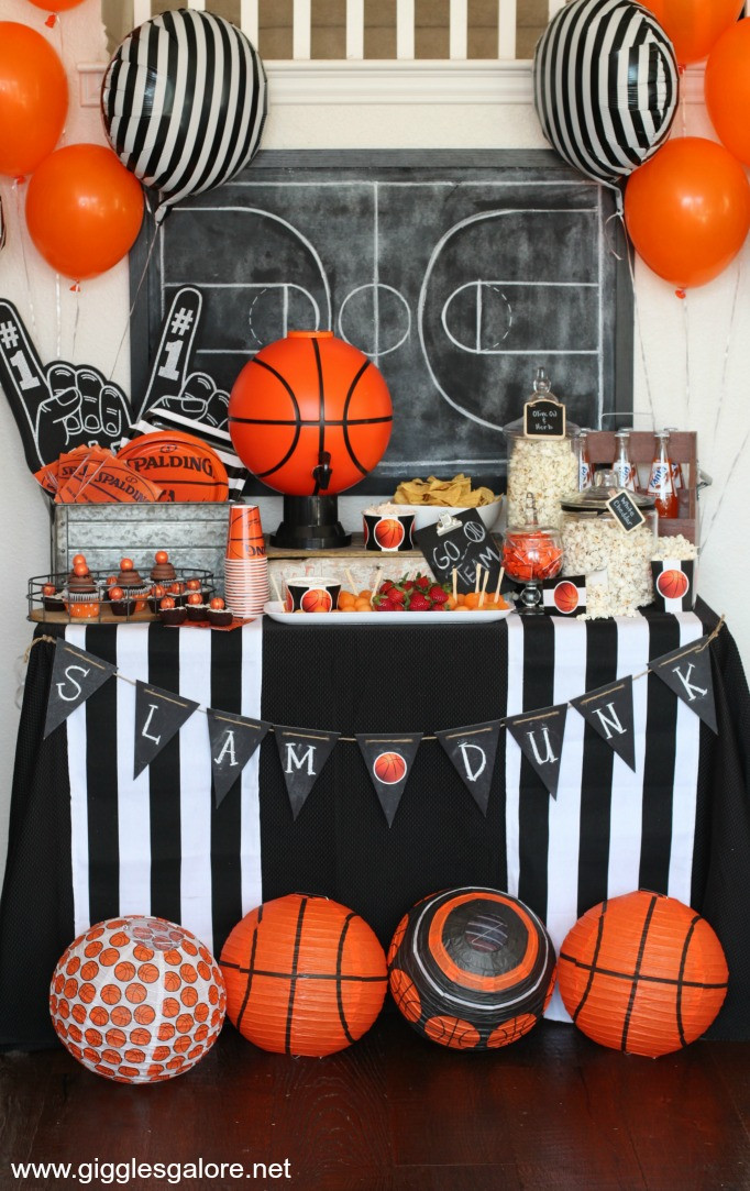Best ideas about Basketball Birthday Party . Save or Pin March Madness Basketball Party Giggles Galore Now.
