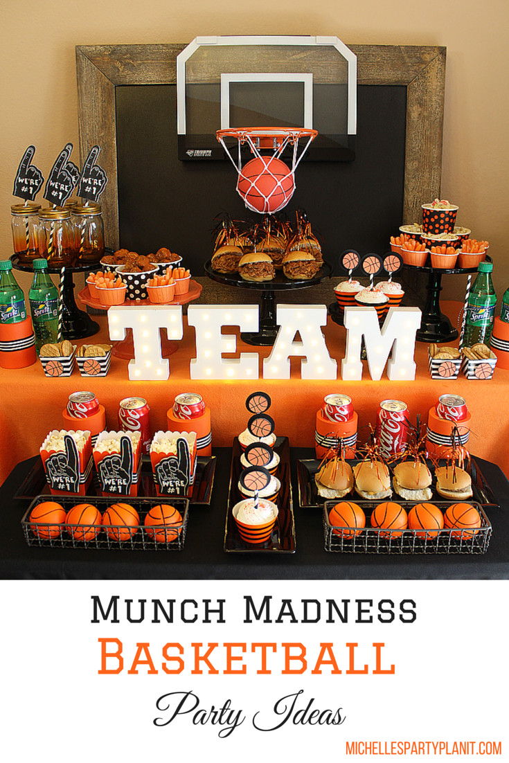 Best ideas about Basketball Birthday Party . Save or Pin Basketball Party Idea March Maddness Themed Food & Mini Now.