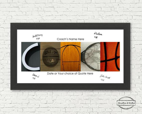 Best ideas about Basketball Coach Gift Ideas . Save or Pin Basketball Coach Team Signature Sign Basketball by Now.