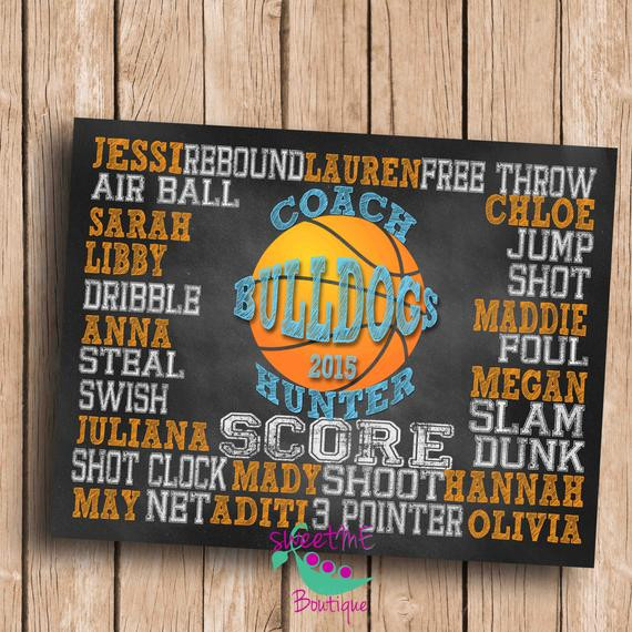 Best ideas about Basketball Coach Gift Ideas . Save or Pin Customized Basketball coach t DIGITAL IMAGE personalized Now.