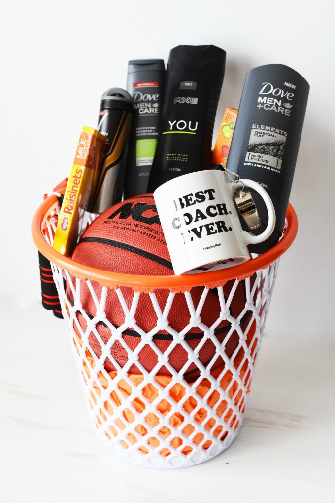 Best ideas about Basketball Coach Gift Ideas . Save or Pin The BEST DIY Basketball Coach Themed Gift Basket They will Now.