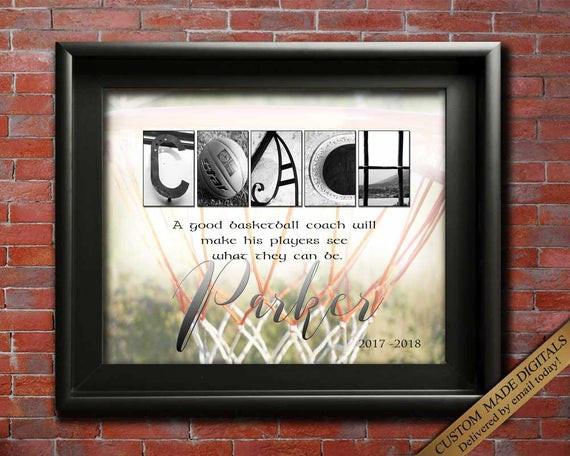 Best ideas about Basketball Coach Gift Ideas . Save or Pin Basketball Coach Gift PERSONALIZED Basketball Gift Idea Now.