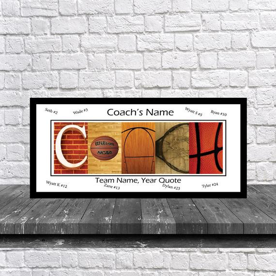 Best ideas about Basketball Coach Gift Ideas . Save or Pin Basketball Coach Team Signature Print Basketball Coach Team Now.