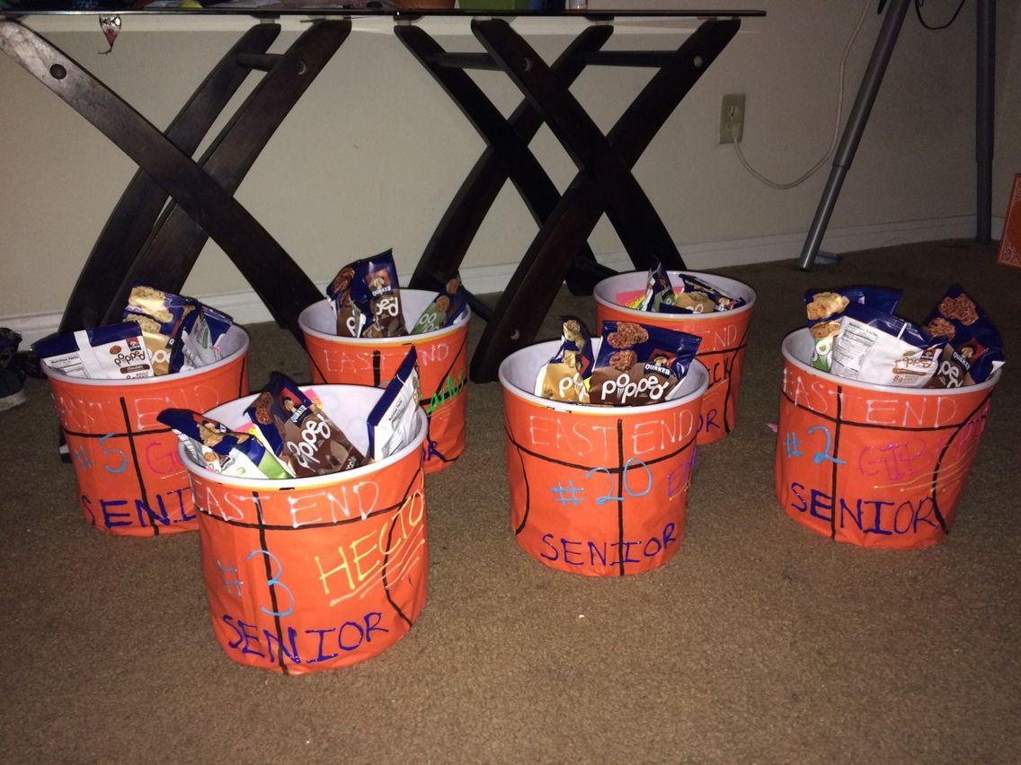 Best ideas about Basketball Senior Night Gift Ideas . Save or Pin Senior Night Basketball Gifts Used Plastic Popcorn Now.
