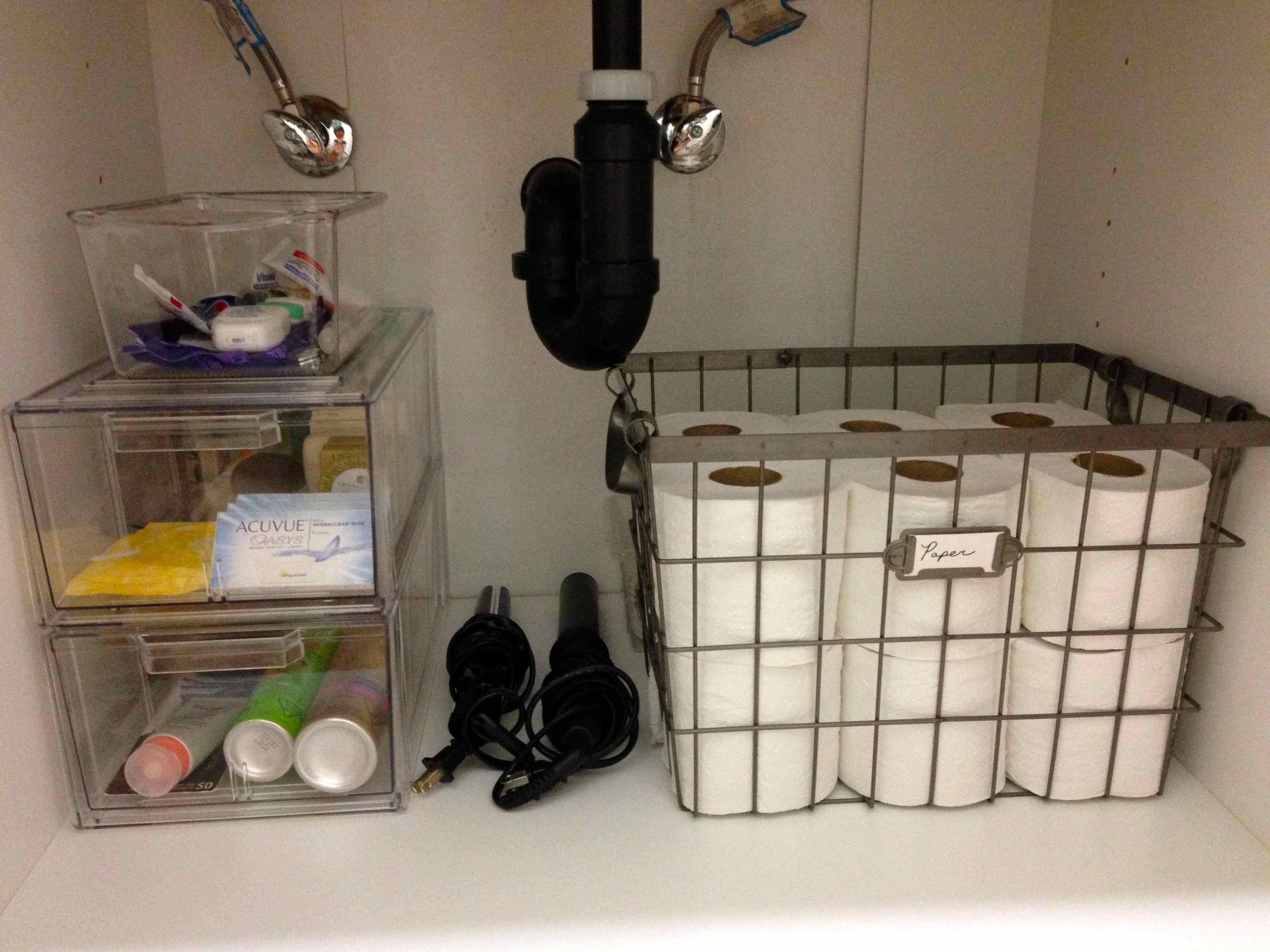 Best ideas about Bathroom Sink Organizer . Save or Pin Under Bathroom Sink Organized Now.