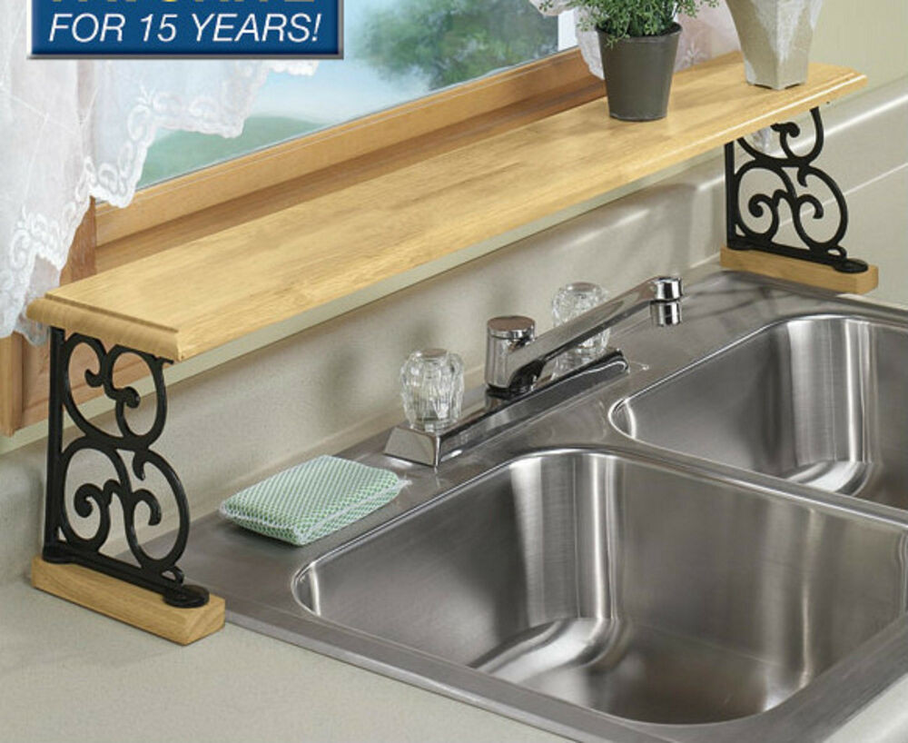 Best ideas about Bathroom Sink Organizer . Save or Pin solid wood & iron Kitchen bathroom counter OVER THE SINK Now.