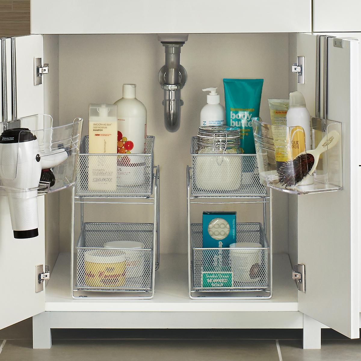 Best ideas about Bathroom Sink Organizer . Save or Pin Silver 2 Drawer Mesh Organizer Now.