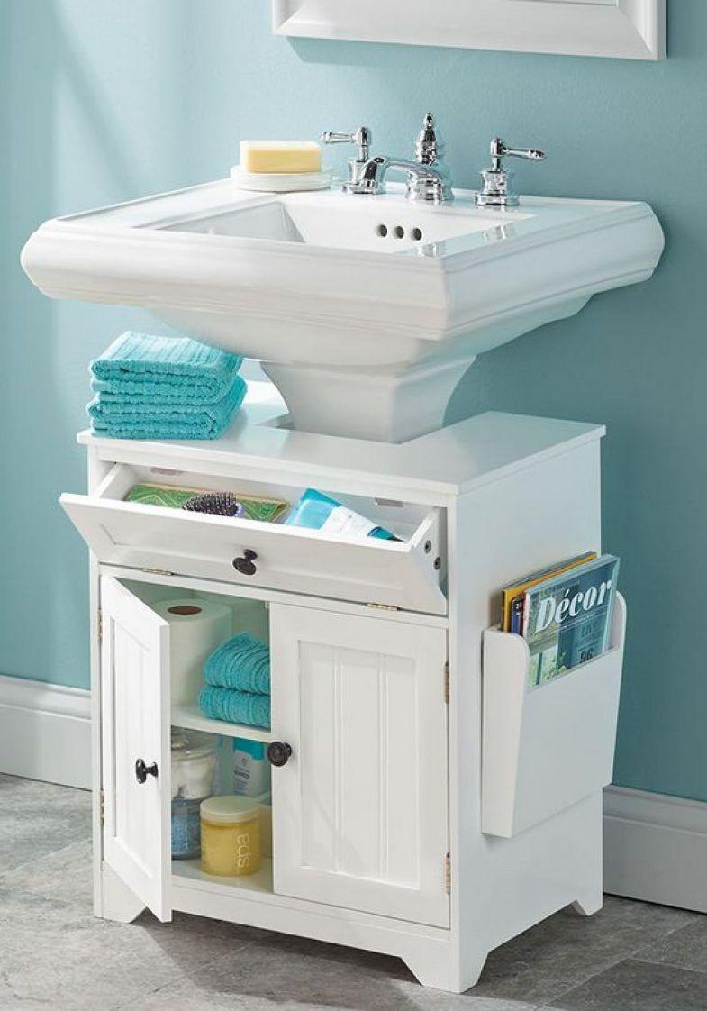 Best ideas about Bathroom Sink Organizer . Save or Pin The Pedestal Sink Storage Cabinet Furniture Now.