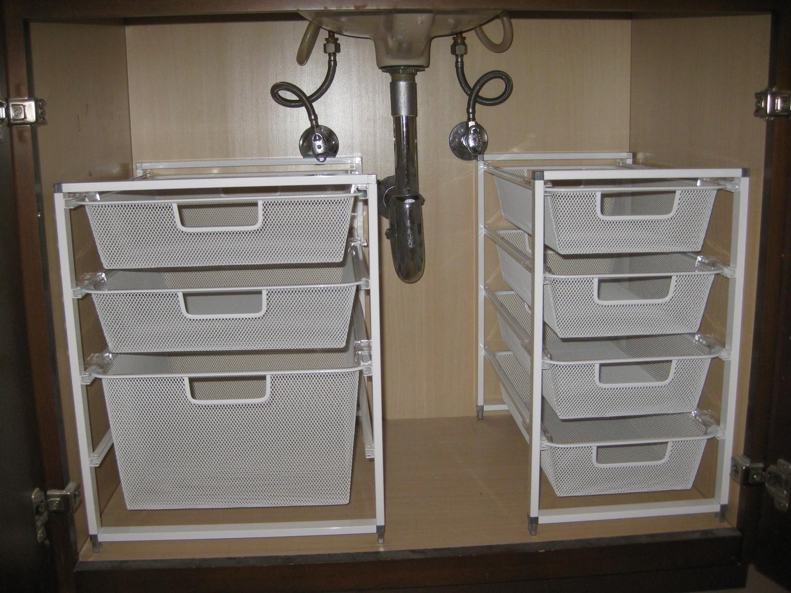 Best ideas about Bathroom Sink Organizer . Save or Pin Under the sink organization – pleia2 s blog Now.