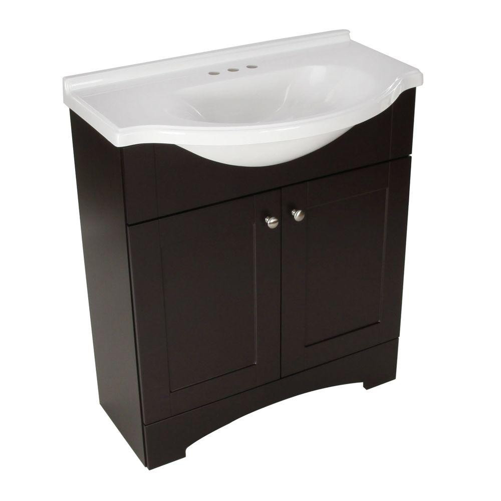 Best ideas about Bathroom Vanities At Home Depot . Save or Pin Glacier Bay Del Mar 30 in W x 19 in D Bath Vanity in Now.
