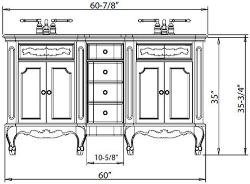 Best ideas about Bathroom Vanity Height . Save or Pin What is the Standard Height of a Bathroom Vanity Now.