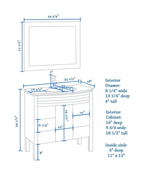 Best ideas about Bathroom Vanity Height . Save or Pin Amazing Bathroom Album of Standard Height For Bathroom Now.