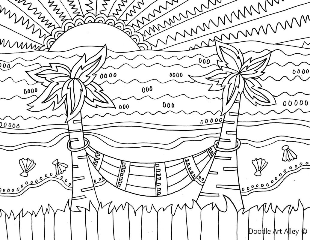 Best ideas about Beach Free Coloring Pages . Save or Pin Beach Coloring pages Doodle Art Alley Now.
