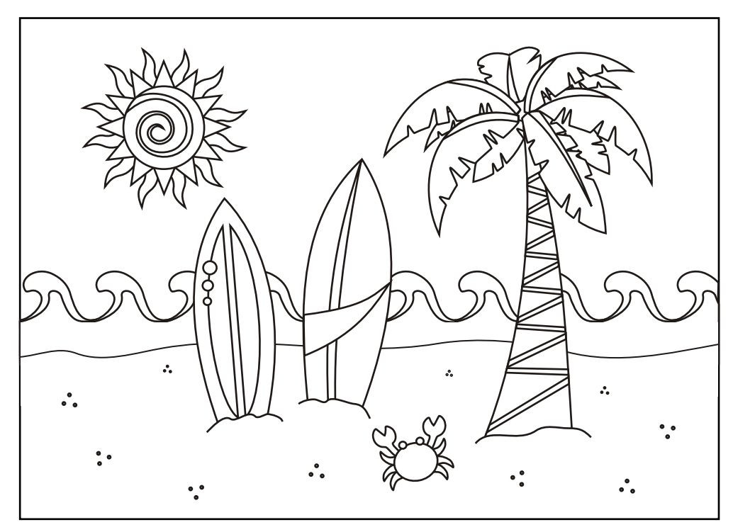 Best ideas about Beach Free Coloring Pages . Save or Pin 243 Summer Coloring Pages for Kids Now.