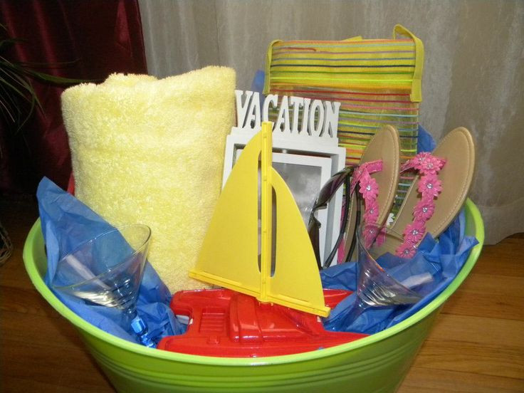 Best ideas about Beach Gift Basket Ideas . Save or Pin 25 best ideas about Vacation t basket on Pinterest Now.