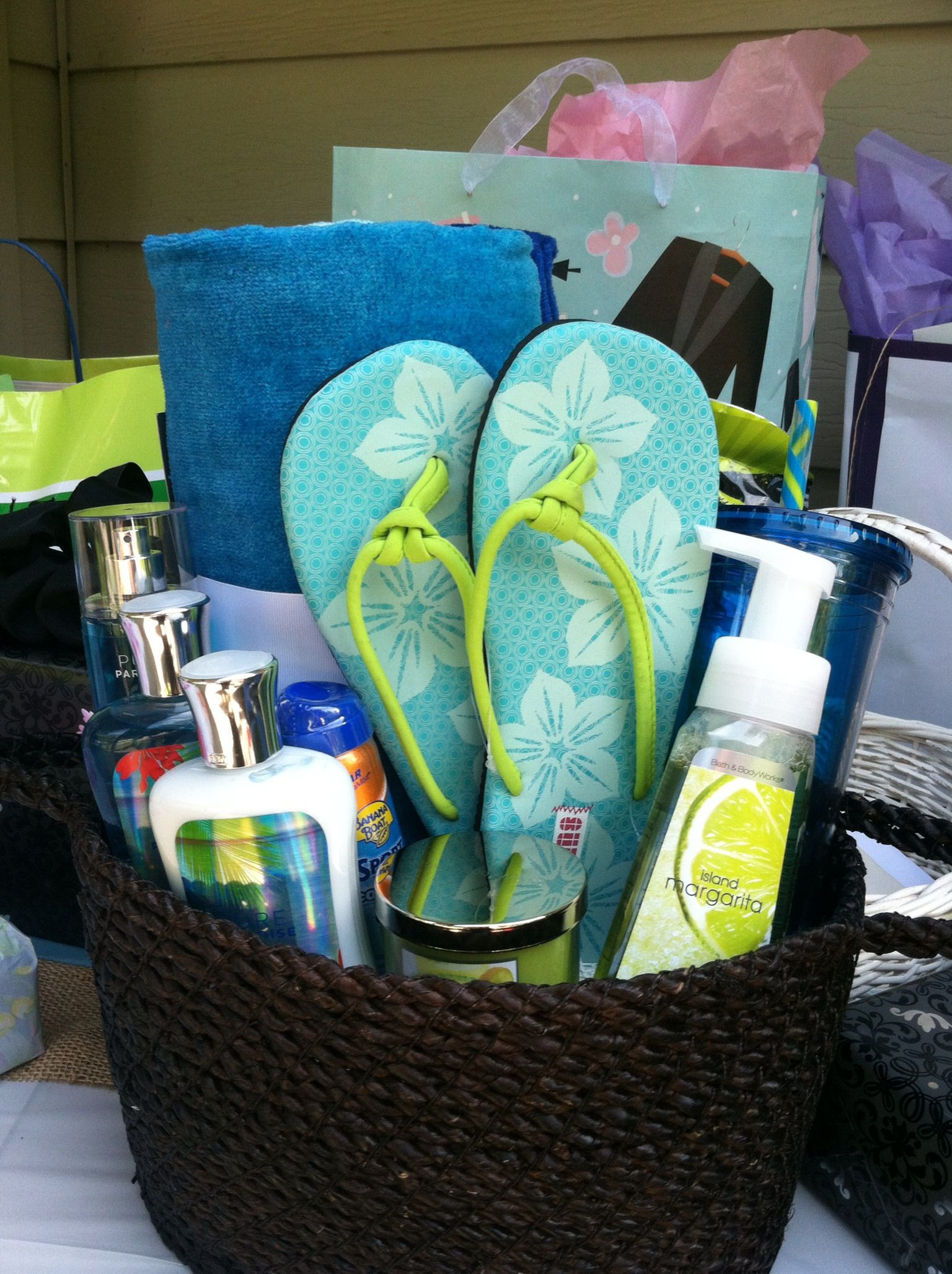 Best ideas about Beach Gift Basket Ideas . Save or Pin Bridal Shower t beach theme … Now.