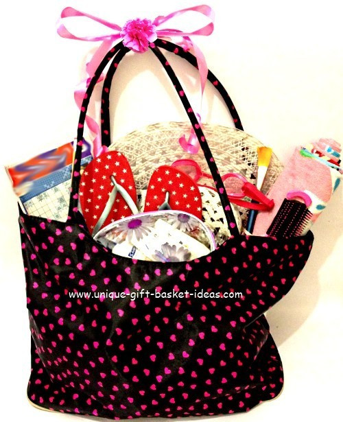 Best ideas about Beach Gift Basket Ideas . Save or Pin Gift Basket Making ideas Using a Bag as a Gift Basket Now.