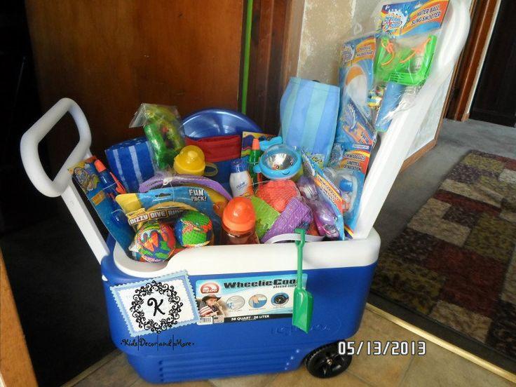 Best ideas about Beach Gift Basket Ideas . Save or Pin beach basket t bag cooler School Now.