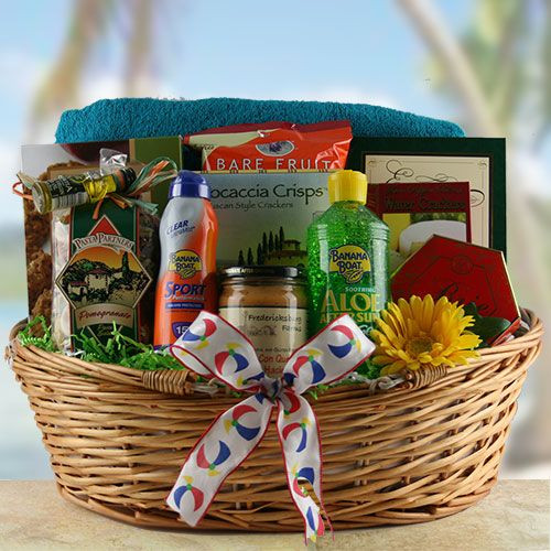 Best ideas about Beach Gift Basket Ideas . Save or Pin Get an A for Healthy Teacher Gifts Now.