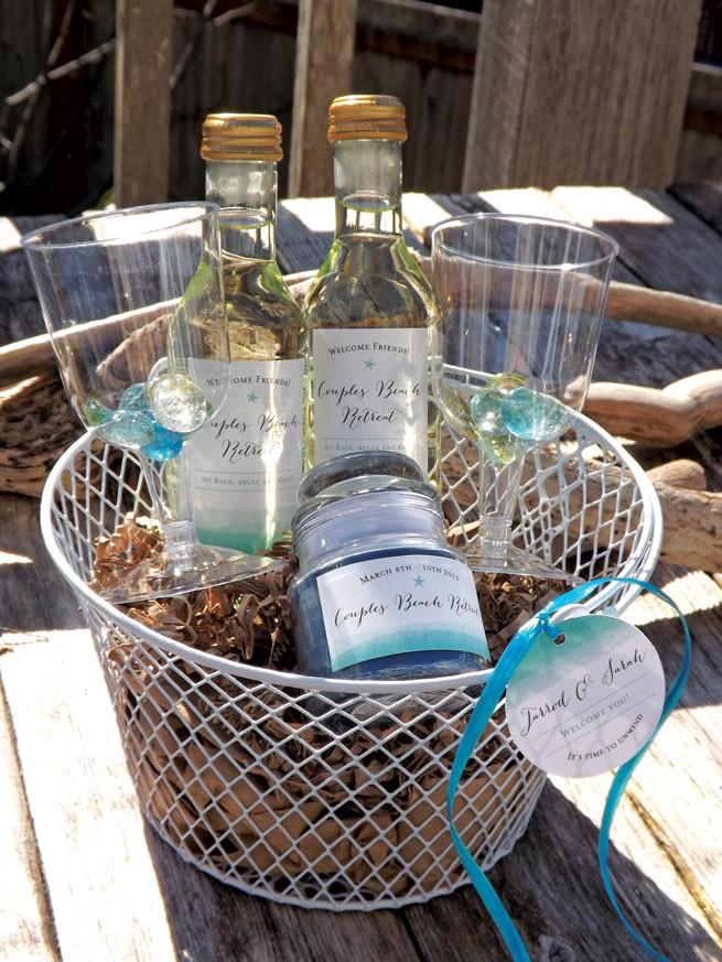 Best ideas about Beach Gift Basket Ideas . Save or Pin Couples Beach Retreat Wel e Baskets Wedding Inspiration Now.