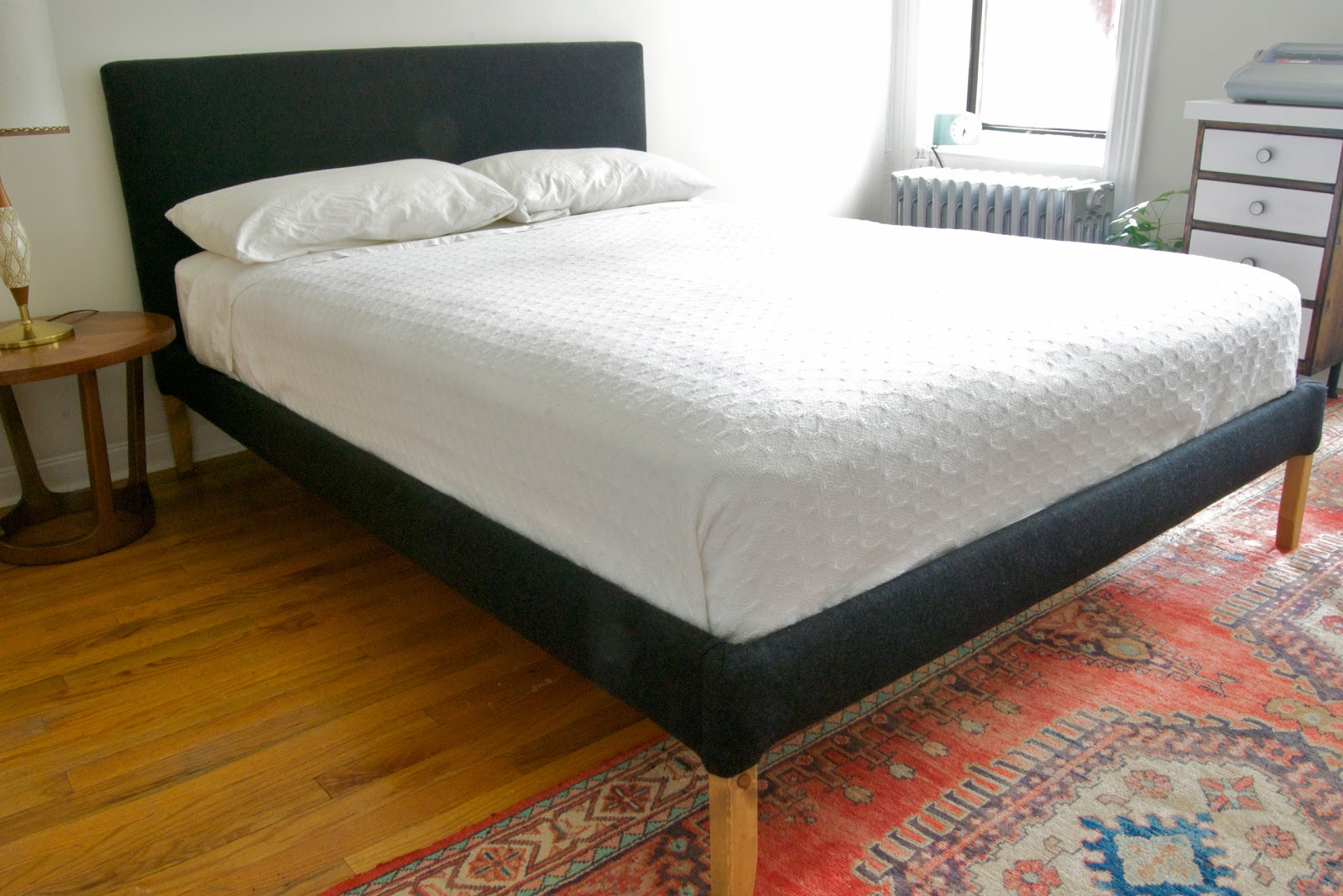 Best ideas about Bed Frame DIY . Save or Pin Stretching For Style DIY Upholstered Bedframe Now.