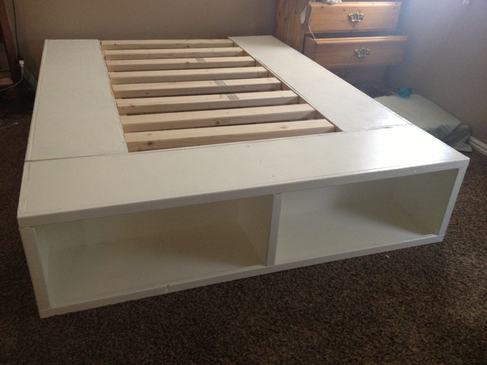 Best ideas about Bed Frame DIY . Save or Pin DIY Storage Bed Now.