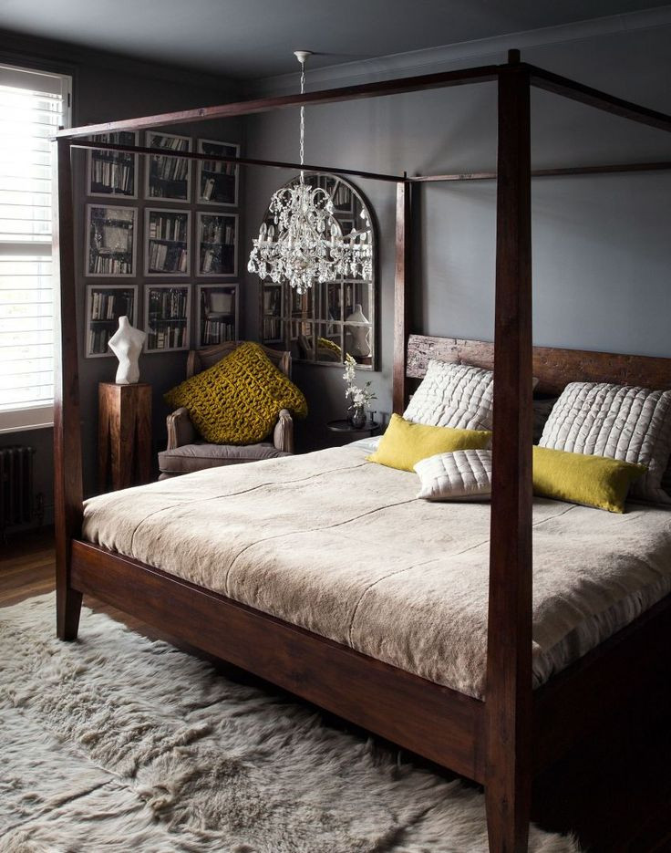 Best ideas about Bedroom Eyes 2019 . Save or Pin Dark Atmospheric Bedroom With Four poster Bed and Low Now.