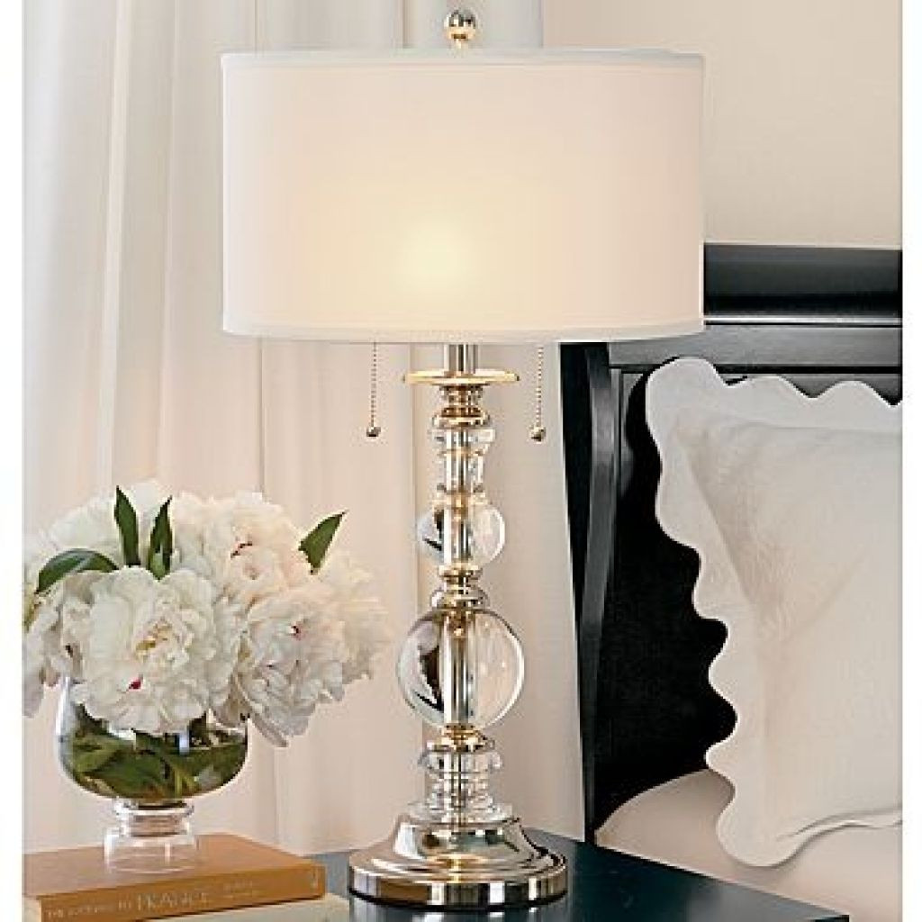 Best ideas about Bedroom Table Lamps . Save or Pin Bedroom With White Shade Table Lamp Tips For Using Table Now.