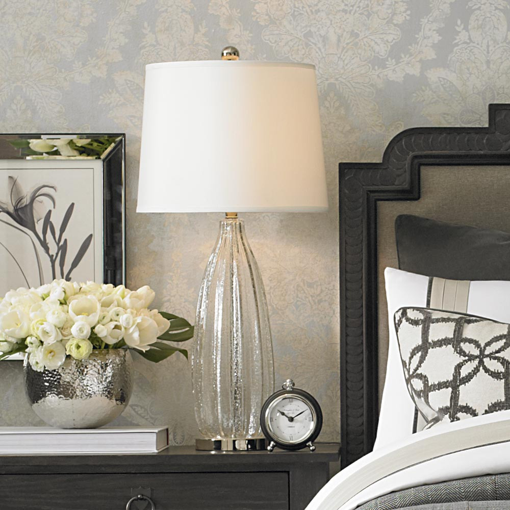 Best ideas about Bedroom Table Lamps . Save or Pin Glass Table Lamp For Bedroom End Table Now.