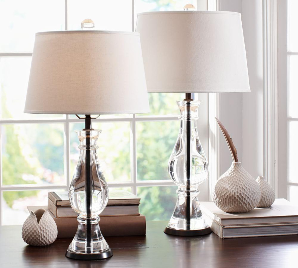 Best ideas about Bedroom Table Lamps . Save or Pin Marston Crystal Table & Bedside Lamp Bases Now.
