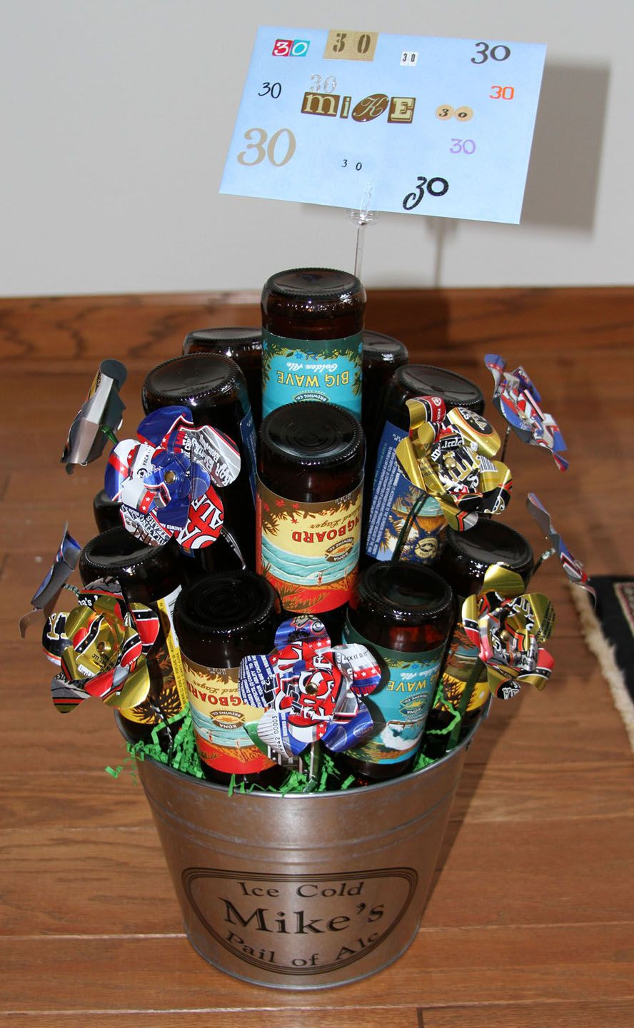 Best ideas about Beer Gift Basket Ideas . Save or Pin Beer Bouquet Good guy t idea Now.