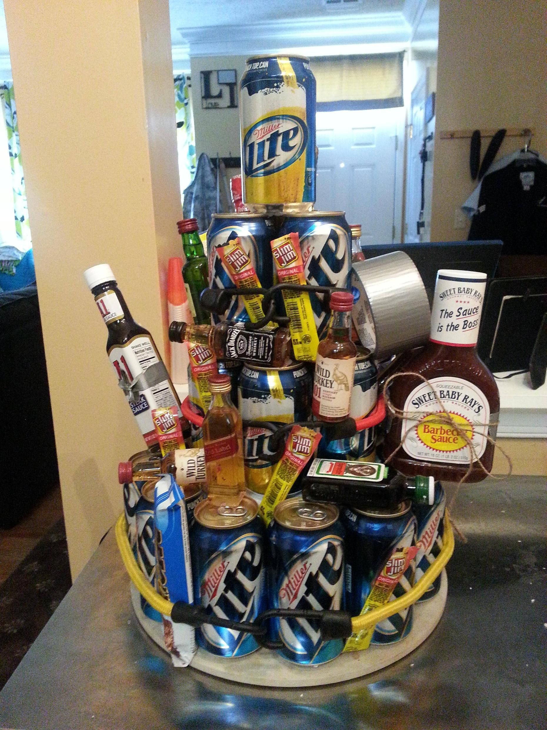 Best ideas about Beer Gift Ideas . Save or Pin Beer cake I made for a friends birthday Now.