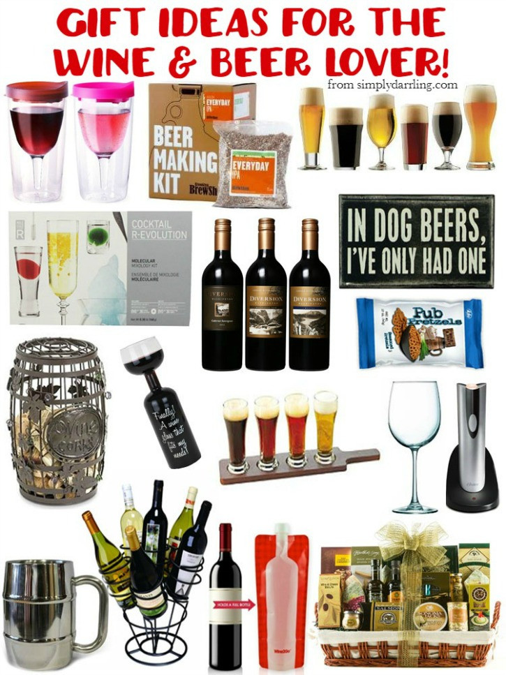 Best ideas about Beer Gift Ideas . Save or Pin Gift Guide for the Beer & Wine Lover Simply Darrling Now.