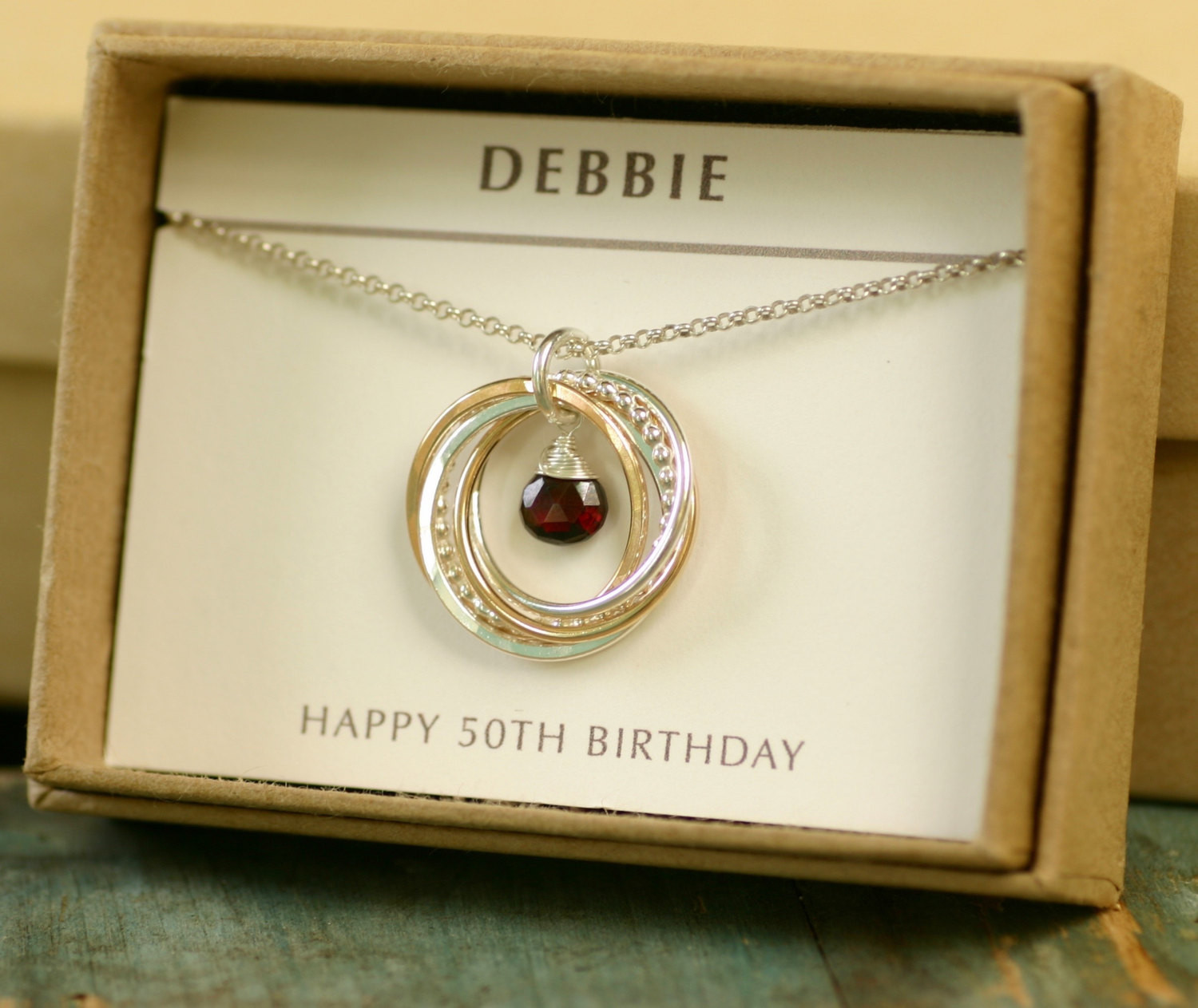 Best ideas about Best 50th Birthday Gifts For Her . Save or Pin Garnet necklace for her 50th birthday t for bestfriend Now.