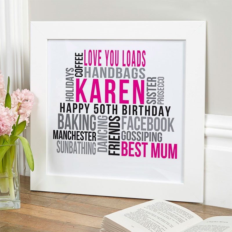 Best ideas about Best 50th Birthday Gifts For Her . Save or Pin Personalised 50th Birthday Gifts of Wall Art Now.