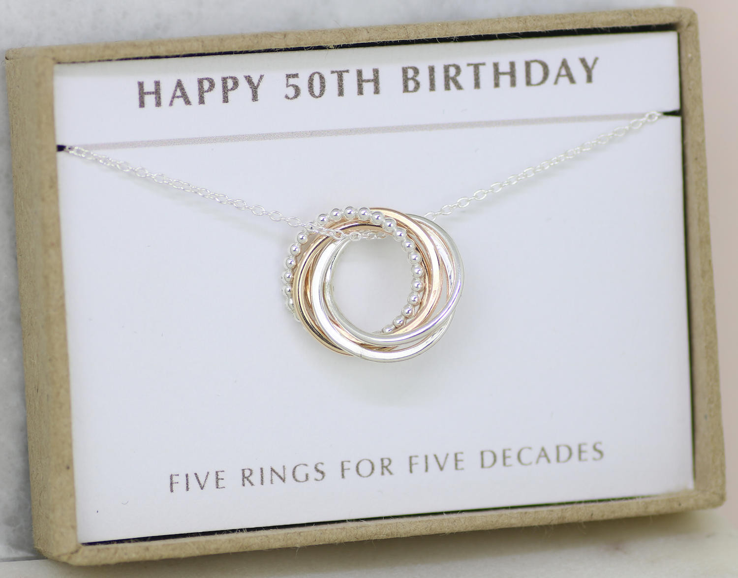 Best ideas about Best 50th Birthday Gifts For Her . Save or Pin 50th birthday t 50th birthday jewelry 50th t for Now.