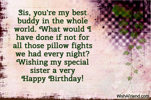Best ideas about Best Birthday Wishes For Sister . Save or Pin Birthday Wishes For Sister Now.