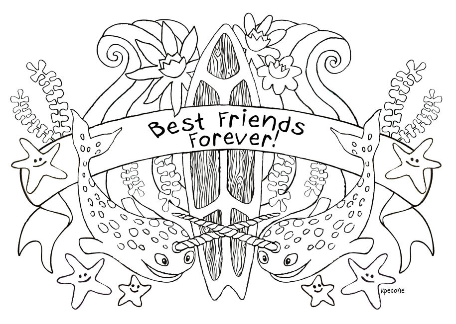Best ideas about Best Friends Forever Coloring Pages For Girls . Save or Pin Best Friend Quotes Coloring Pages QuotesGram Now.