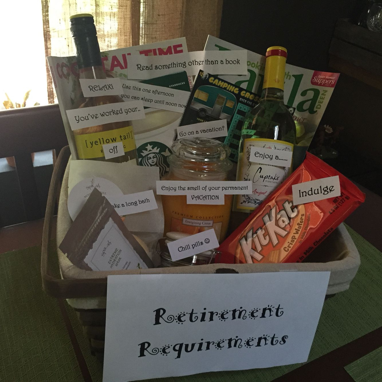 Best ideas about Best Retirement Gift Ideas . Save or Pin Retirement requirements t basket Now.