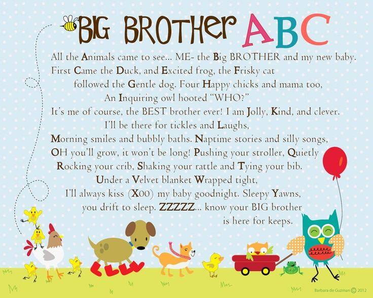 Best ideas about Big Brother Gift Ideas From New Baby . Save or Pin So sweet a great t for a new Big Brother Now.